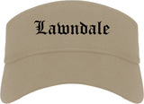 Lawndale California CA Old English Mens Visor Cap Hat Khaki