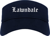 Lawndale California CA Old English Mens Visor Cap Hat Navy Blue
