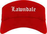 Lawndale California CA Old English Mens Visor Cap Hat Red
