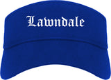 Lawndale California CA Old English Mens Visor Cap Hat Royal Blue