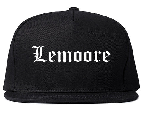 Lemoore California CA Old English Mens Snapback Hat Black