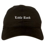 Little Rock Arkansas AR Old English Mens Dad Hat Baseball Cap Black