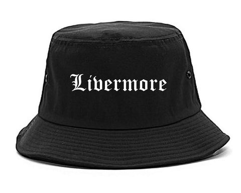 Livermore California CA Old English Mens Bucket Hat Black