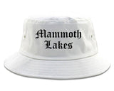Mammoth Lakes California CA Old English Mens Bucket Hat White