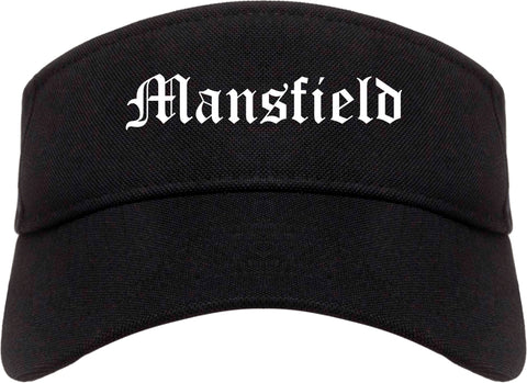 Mansfield Louisiana LA Old English Mens Visor Cap Hat Black