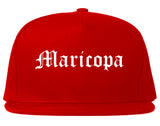 Maricopa Arizona AZ Old English Mens Snapback Hat Red