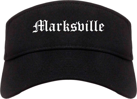 Marksville Louisiana LA Old English Mens Visor Cap Hat Black