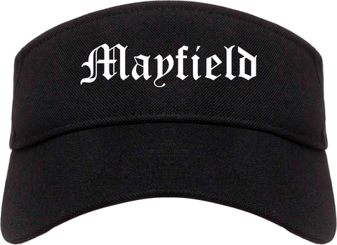 Mayfield Kentucky KY Old English Mens Visor Cap Hat Black