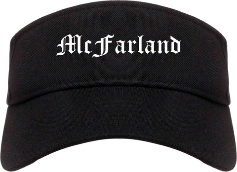 McFarland California CA Old English Mens Visor Cap Hat Black