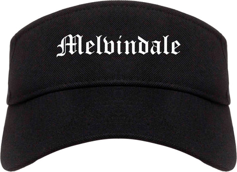 Melvindale Michigan MI Old English Mens Visor Cap Hat Black