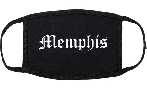 Memphis Tennessee TN Old English Cotton Face Mask Black