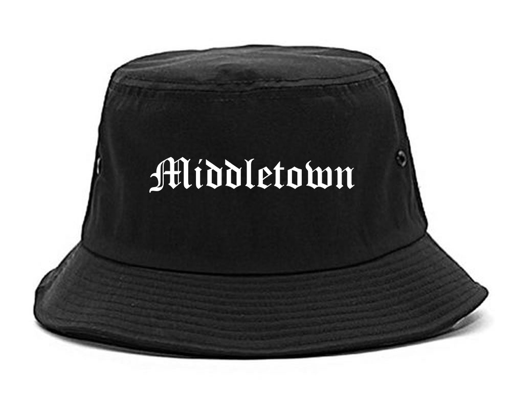 Middletown Connecticut CT Old English Mens Bucket Hat Black