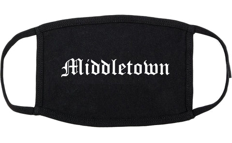Middletown New York NY Old English Cotton Face Mask Black