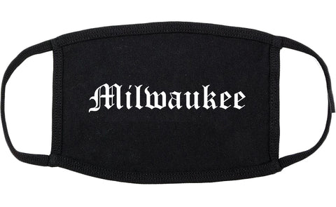 Milwaukee Wisconsin WI Old English Cotton Face Mask Black