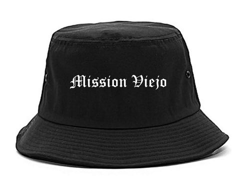 Mission Viejo California CA Old English Mens Bucket Hat Black