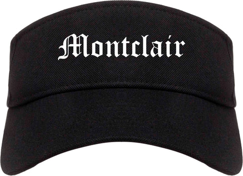 Montclair California CA Old English Mens Visor Cap Hat Black
