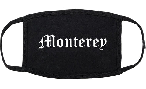 Monterey California CA Old English Cotton Face Mask Black