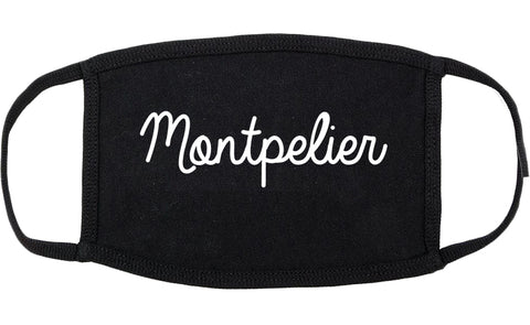 Montpelier Vermont VT Script Cotton Face Mask Black