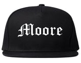 Moore Oklahoma OK Old English Mens Snapback Hat Black