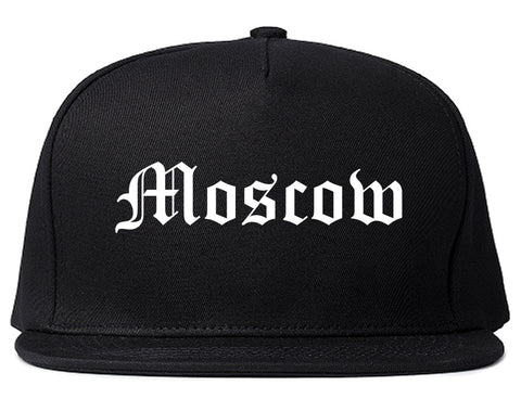 Moscow Idaho ID Old English Mens Snapback Hat Black