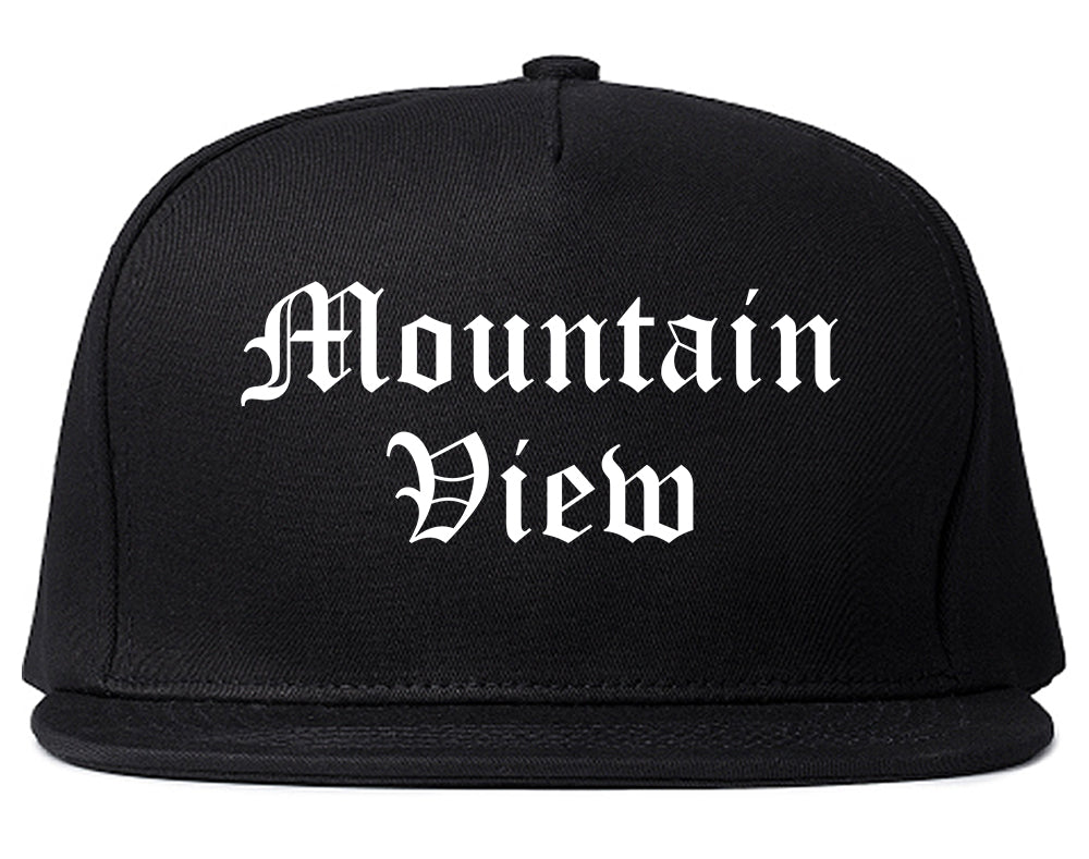 Mountain View California CA Old English Mens Snapback Hat Black