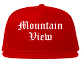 Mountain View California CA Old English Mens Snapback Hat Red