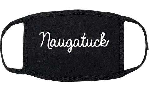 Naugatuck Connecticut CT Script Cotton Face Mask Black