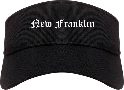 New Franklin Ohio OH Old English Mens Visor Cap Hat Black