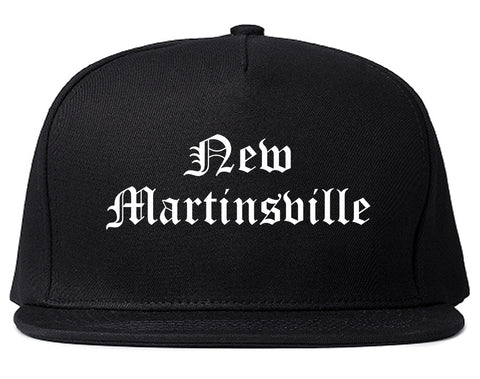 New Martinsville West Virginia WV Old English Mens Snapback Hat Black