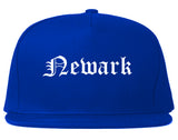 Newark New Jersey NJ Old English Mens Snapback Hat Royal Blue