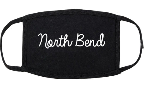 North Bend Oregon OR Script Cotton Face Mask Black