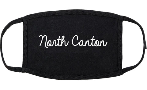 North Canton Ohio OH Script Cotton Face Mask Black