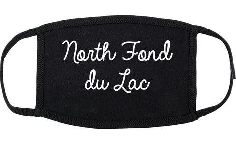North Fond du Lac Wisconsin WI Script Cotton Face Mask Black