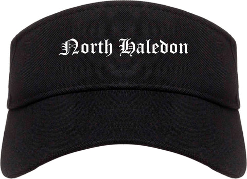 North Haledon New Jersey NJ Old English Mens Visor Cap Hat Black