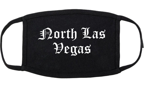 North Las Vegas Nevada NV Old English Cotton Face Mask Black