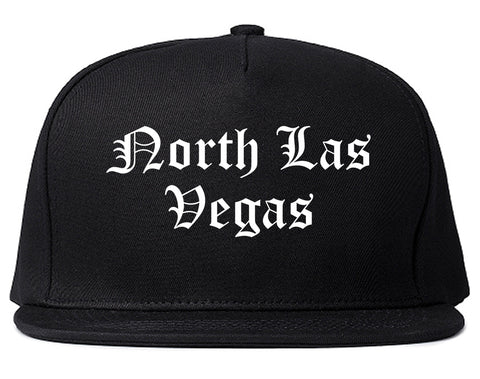 North Las Vegas Nevada NV Old English Mens Snapback Hat Black