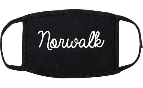 Norwalk Connecticut CT Script Cotton Face Mask Black