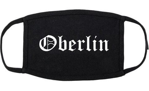 Oberlin Ohio OH Old English Cotton Face Mask Black