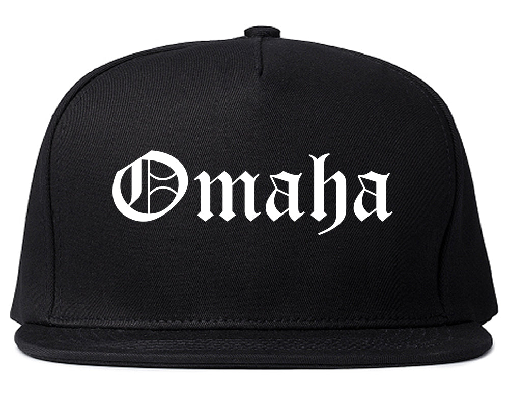 Omaha Nebraska NE Old English Mens Snapback Hat Black