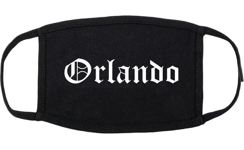 Orlando Florida FL Old English Cotton Face Mask Black