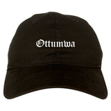 Ottumwa Iowa IA Old English Mens Dad Hat Baseball Cap Black