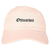Ottumwa Iowa IA Old English Mens Dad Hat Baseball Cap Pink