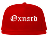 Oxnard California CA Old English Mens Snapback Hat Red