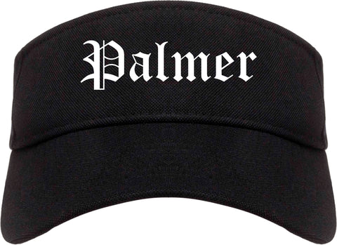 Palmer Alaska AK Old English Mens Visor Cap Hat Black