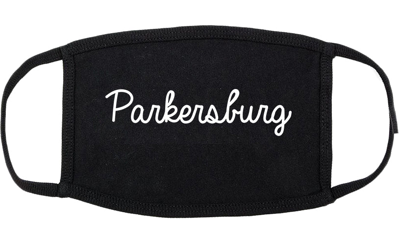 Parkersburg West Virginia WV Script Cotton Face Mask Black