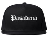 Pasadena California CA Old English Mens Snapback Hat Black