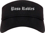 Paso Robles California CA Old English Mens Visor Cap Hat Black