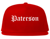 Paterson New Jersey NJ Old English Mens Snapback Hat Red