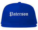 Paterson New Jersey NJ Old English Mens Snapback Hat Royal Blue