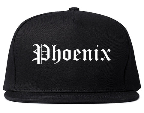 Phoenix Arizona AZ Old English Mens Snapback Hat Black